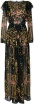 Alberta Ferretti maxi floral chiffon dress