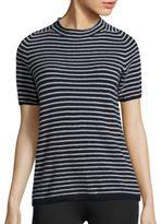 Max Mara Burano Striped Short-Sleeve Sweater