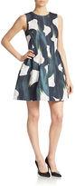 Calvin Klein Printed Flare Dress
