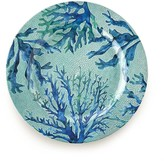 Sea Creature Melamine, Coral Dinner Plates, Set of 4