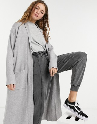 Stradivarius super long cardigan in grey