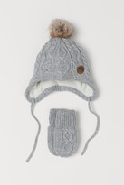 H&M Hat and Mittens - Gray