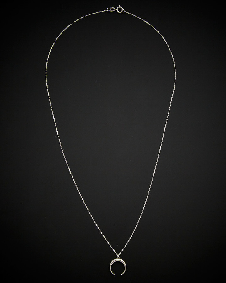 fb59989869be1 14K Double Horn Necklace