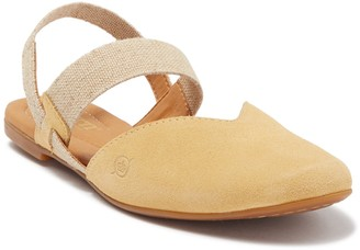 Børn Coquille Yellow Suede Sandal