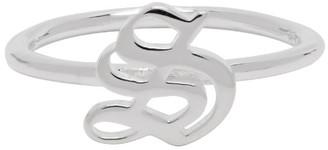 Stolen Girlfriends Club Silver Gothic Stamp Stacker Ring