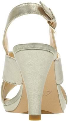 Clarks Dalia Lotus Heeled Sandals -Champagne