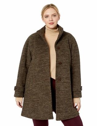 Jones New York Women's Plus Size Long Wool Coat