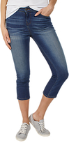 Fat Face Denim Straight Leg Cropped Jeans, Blue
