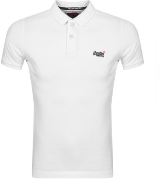 Superdry Classic Polo T Shirt White