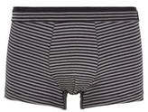 Boss Striped trunks in stretch jersey with layered waistband