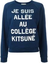 MAISON KITSUNÉ slogan sweatshirt - women - Cotton - S