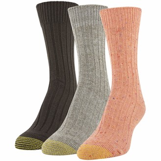 Gold Toe Women's Marled Rib Crew Socks 3 Pairs