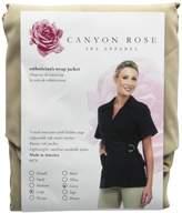 Canyon Rose Wrap Front Salon Esthetician Jacket,L