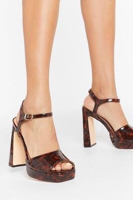 Nasty Gal Womens Tort We'd Lost You Patent Platform Heels - brown - 3