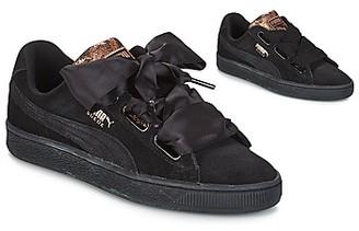 Puma WN SUEDE HEART ARTICA.BLAC women's Shoes (Trainers) in Black