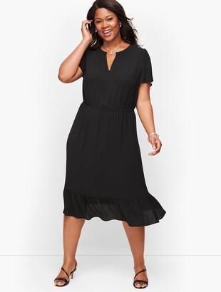 Talbots Plus Size Exclusive Flounce Hem A-Line Dress