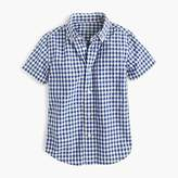 J.Crew Kids' short-sleeve Secret Wash shirt in gingham
