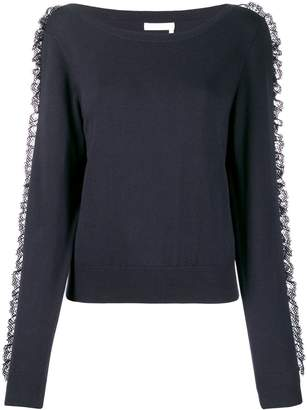 See by Chloe lace frill jumper