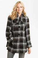 1 Madison Wing Collar Plaid Coat