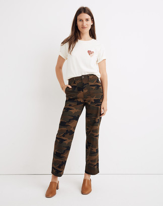 Madewell Griff Fatigue Pants in Camo