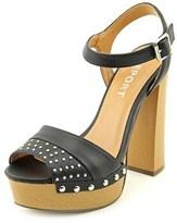 Report Meeshka Women Open Toe Synthetic Black Platform Sandal.