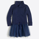J.Crew Factory Girls' sweatshirt tulle dress
