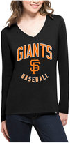 '47 Women's San Francisco Giants Splitter Arch Long-Sleeve T-Shirt