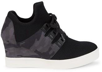 Mia Kade Camo-Print Wedge Sneakers