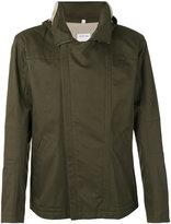 Helmut Lang rear print hooded jacket - men - Cotton/Polyester - S