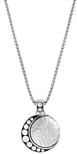 John Hardy Sterling Silver Dot Hammered Moon Pendant Necklace, 16