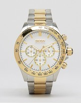 HUGO BOSS Boss By 1512960 Gold Detail Chronograph Stainless Steel Watch