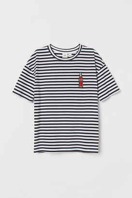 H&M Graphic-design T-shirt - Black