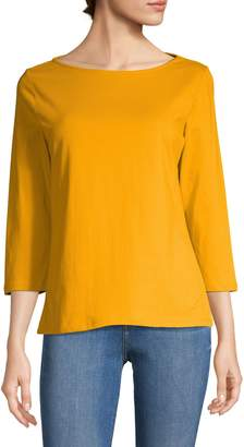 Isaac Mizrahi Imnyc Three-Quarter-Sleeve Boatneck Top