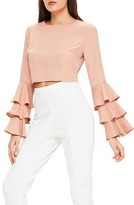Missguided Women's Ruffle Crop Blouse