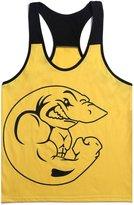 Bestgift Men's Bodybuilding Gym Sleeveless Cotton Tank Top S
