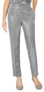 Kasper Petite Slim-Leg Metallic Pants