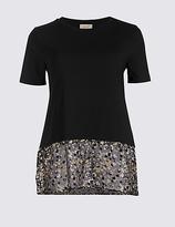 Per Una Cotton Rich Printed Short Sleeve T-Shirt