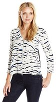 French Connection Women's Tapir Wave Crepe Top