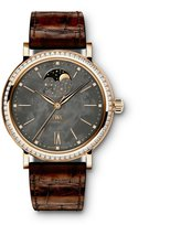 IWC Women's Portofino 37mm Leather Band Steel Case Automatic Watch Iw459003