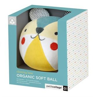 Petit Collage Organic Blankie & Soft Ball Bundle - Bear