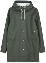 Stutterheim Stockholm Green Rubberised Raincoat