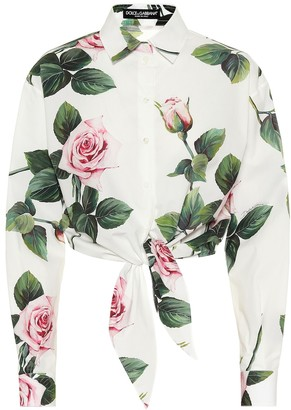 Dolce & Gabbana Floral cotton cropped shirt