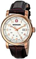 Wenger Urban Classic PVD Women's Quartz Watch with Silver Dial Analogue Display and Brown Leather Strap 011021108
