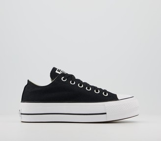 Converse Low Platform Black Black White