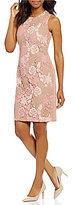 Calvin Klein Scuba Knit Side Panel Lace Sheath Dress