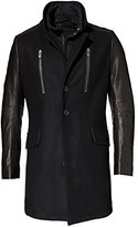 Rogue Men's Wool with Glazed Lamb Leather Sleeves Coat