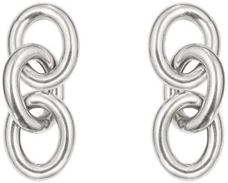 Deborah Blyth Silver Chain Stud Earrings