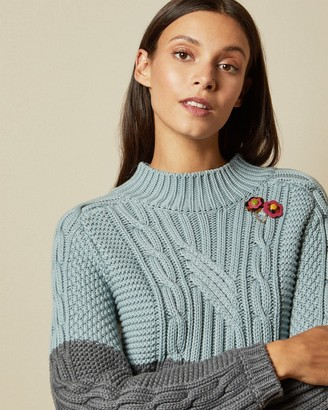 Ted Baker SLIMBO Chunky cable knit sweater