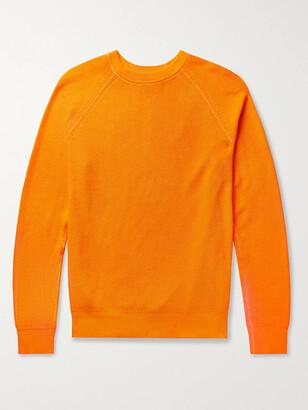 Club Monaco Garment-Dyed Ribbed Cotton Sweater - Men - Orange