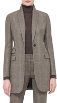 Akris Women's One-Button Check Wool & Cashmere Jacket